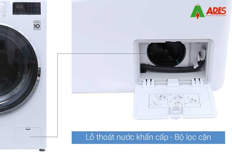 Hinh anh thuc te may giat LG Inverter 8.5 kg FC1485S2W